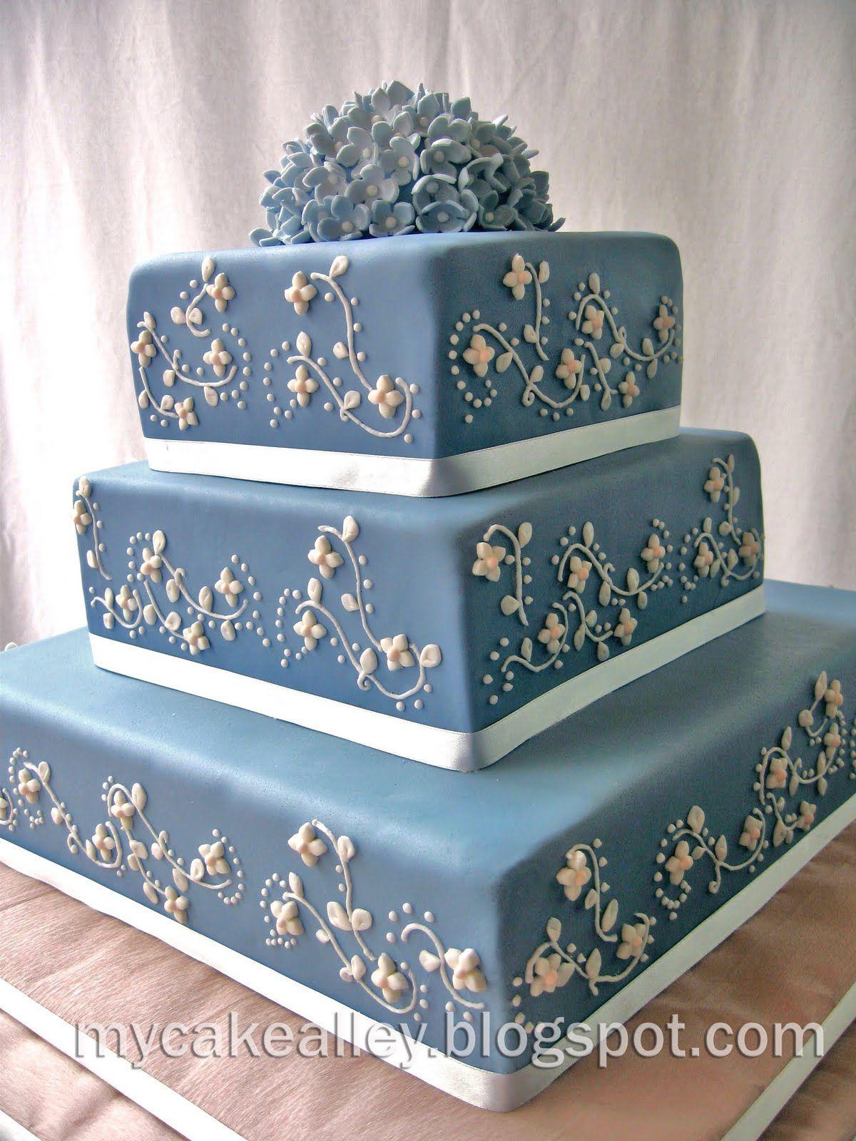 My Cake Alley: Blue Danube: 3- tier Square Cake | Baking | Pinterest ...