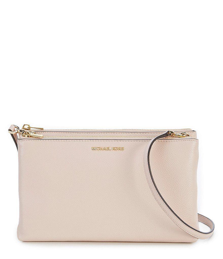 25ede6d88d0c MICHAEL Michael Kors Adele Double-Zip Cross-Body Bag
