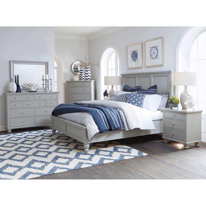 Baldwin Park 6piece King Bedroom Set, Gray King bedroom