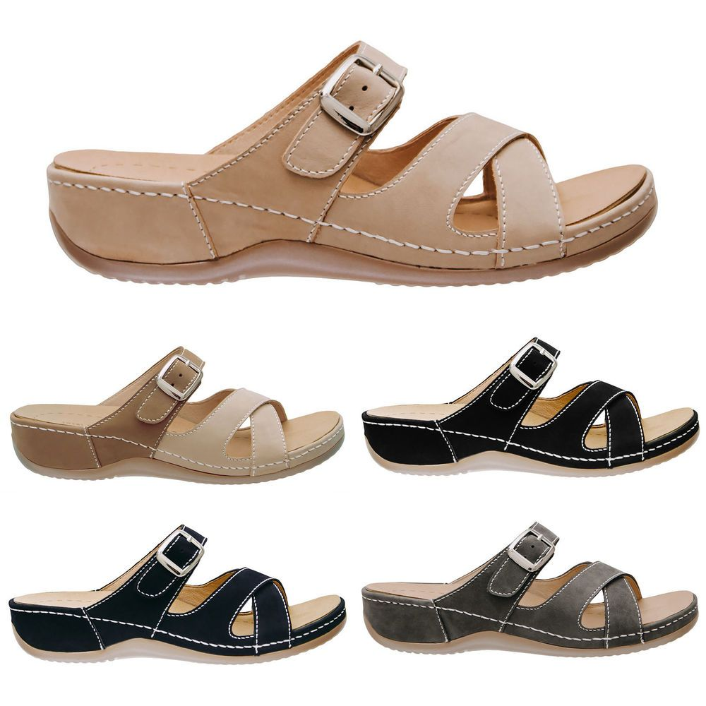5f6e07b4f28 Dr. Kong Women's Chloe 2 Leather Comfortable Orthotic Supportive Sandals  Shoes