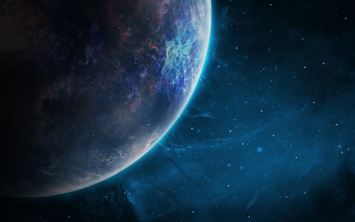 Download wallpapers 4k, solar system, galaxy