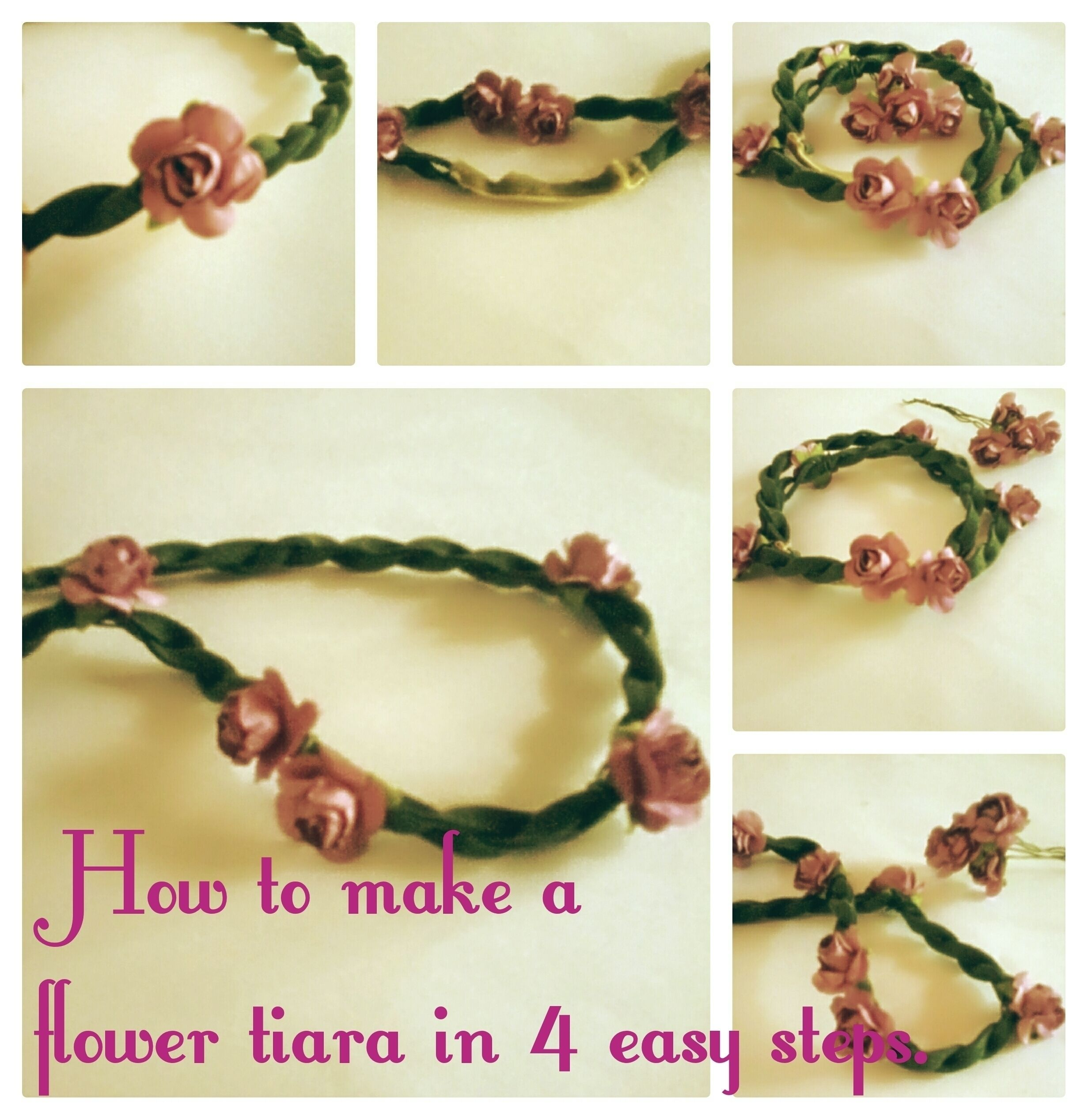 How to make a flower tiara in 4 easy steps flower tiara how to make a flower tiara in 4 easy steps izmirmasajfo Gallery