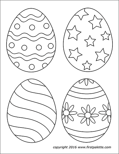 Easter Eggs Free Printable Templates Coloring Pages Firstpalette Com Easter Egg Coloring Pages Easter Printables Free Easter Coloring Pages Printable