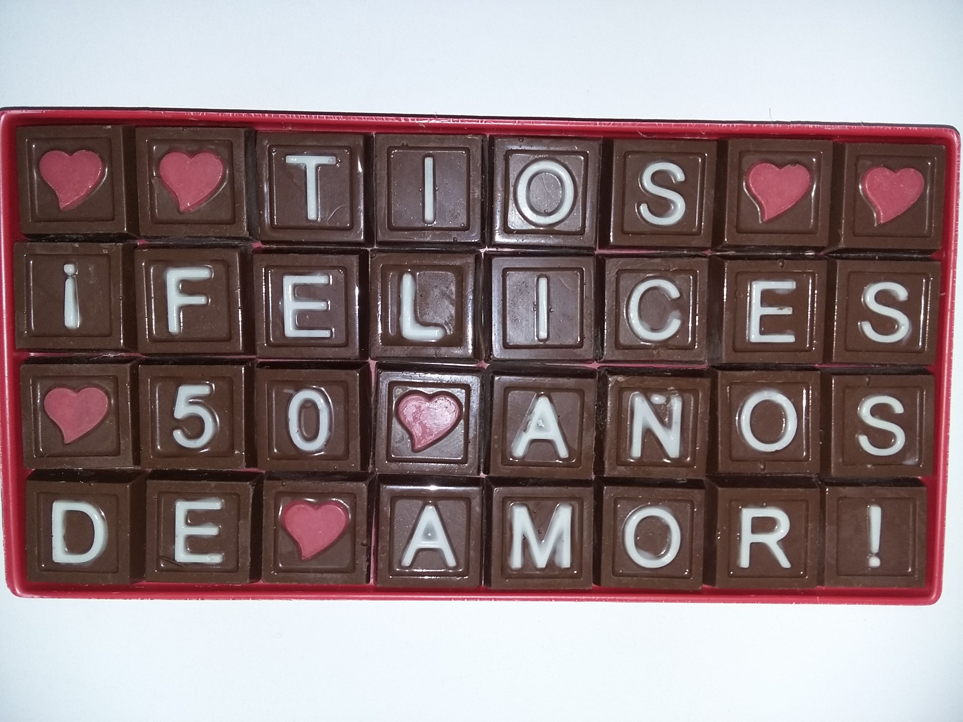 mensaje de chocolate o chocomensaje de saludo www.palermodulce.com,ar