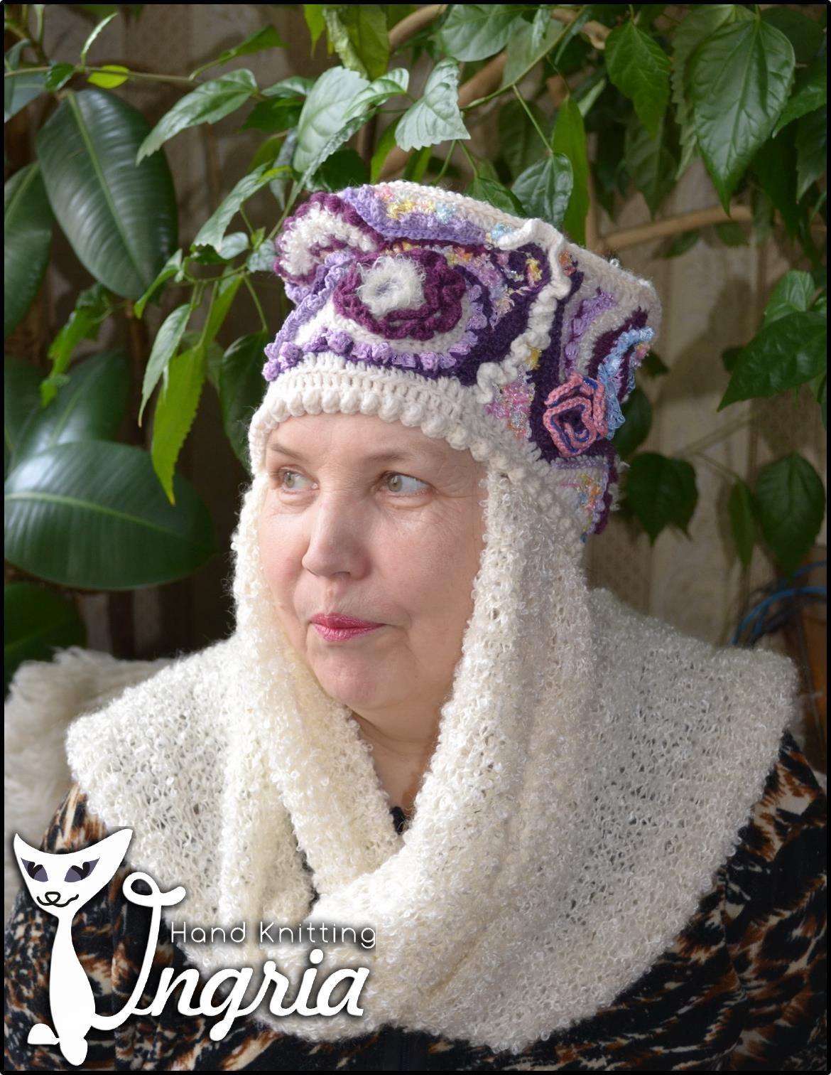 женская рождественская шапочка вязаная с оленями схема