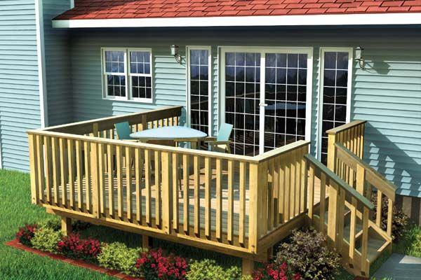 Plan 90002 Easy Raised Deck Deck Designs Backyard Simple Deck Designs Building A Deck