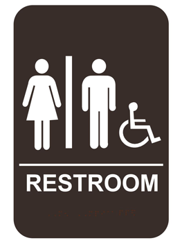 Handicap Men Women S Ada Restroom Sign Ada Restroom Restroom