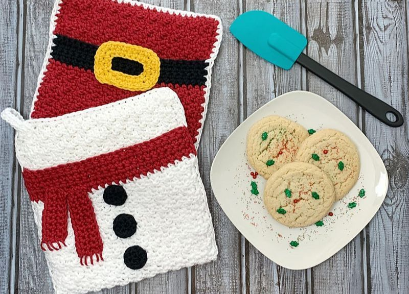 Christmas Pot Holders With Images Christmas Pots Christmas Crochet Pot Holder Crafts