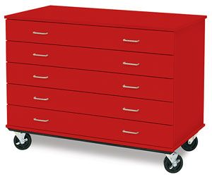 Id Systems Five Drawer Paper Storage Cabinets Blick Art Materials