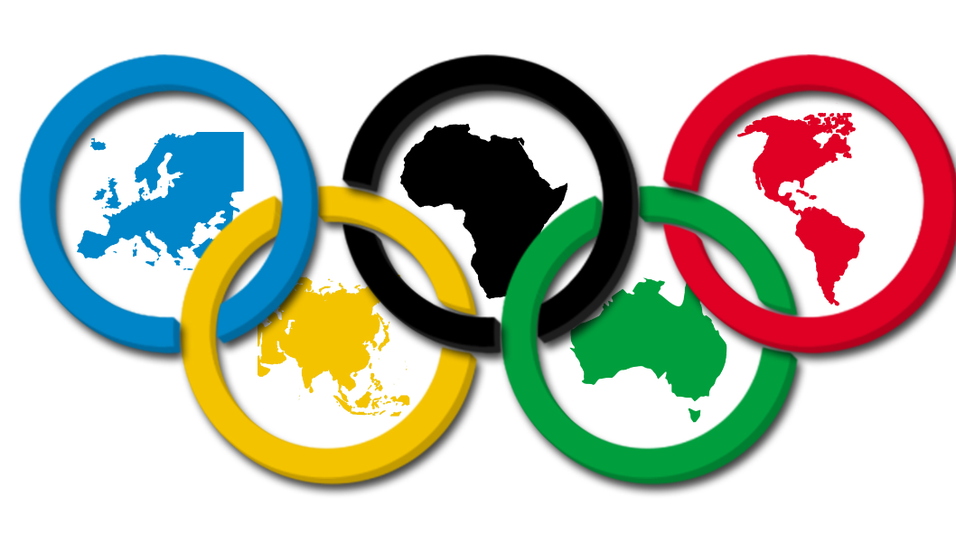 The Olympic Rings Cover Every Flag In The World Yellow Green Red Black And Blue Were Selected Because At Least O Olympic Crafts Olympic Logo Olympic Games