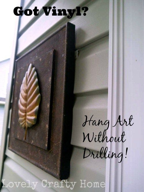 How To Use Vunyl Siding Clips To Hang Art Home Exterior