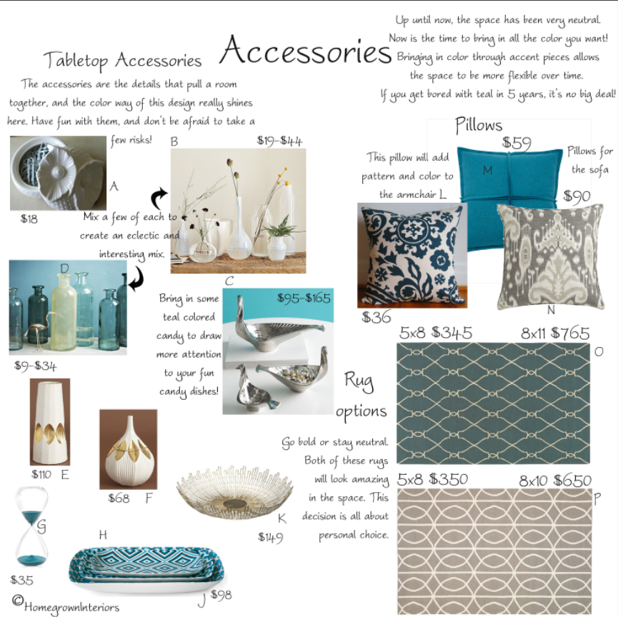 Teal Accent Pieces: Tabletop Accessories, Teal, Accent Pieces
