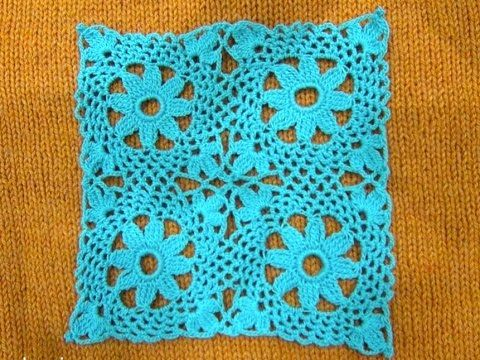 ▷ crochet lace square - YouTube | cuadros | Pinterest | Cuadrados ...