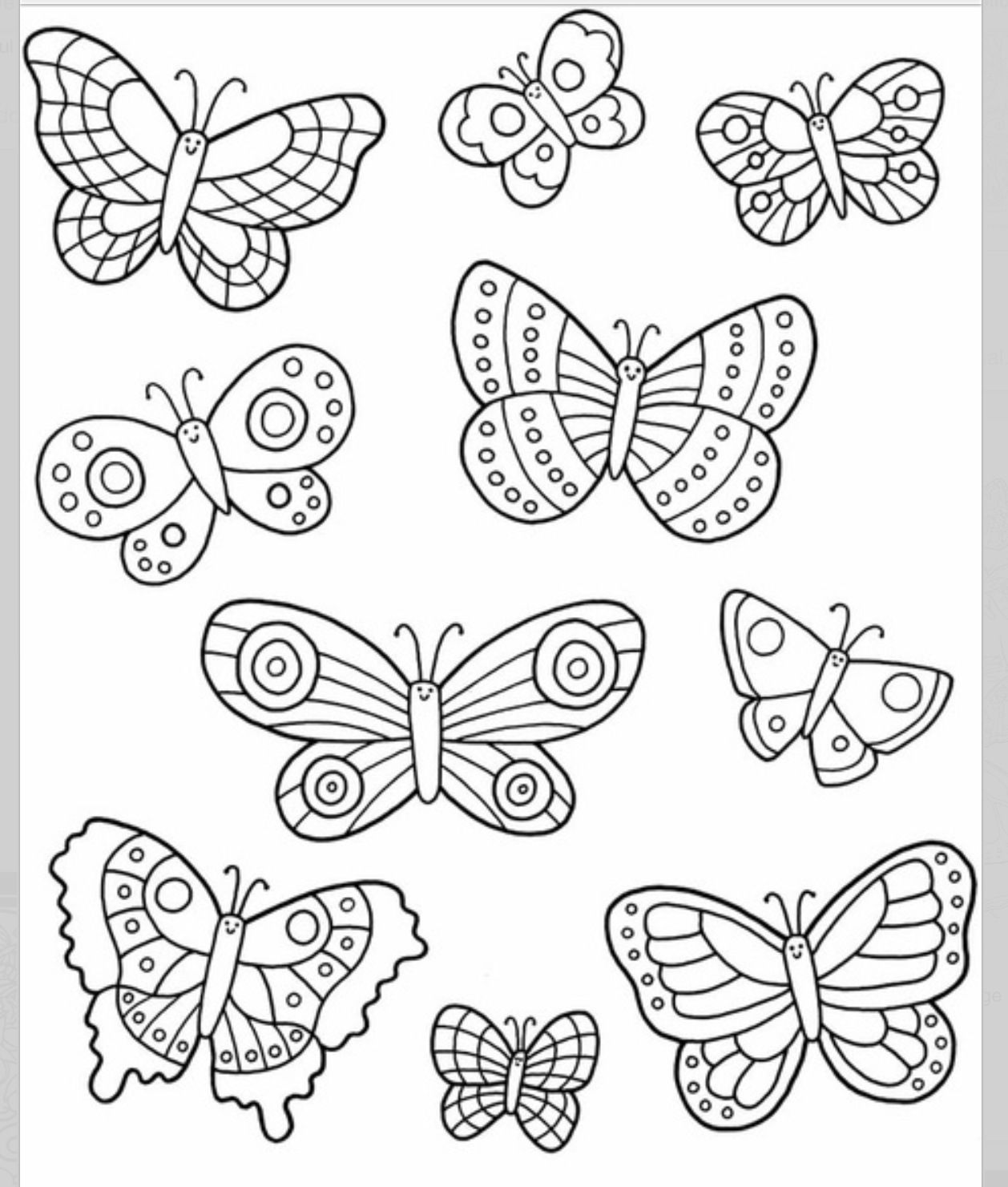 Easy to draw Coloring pages, Butterfly template