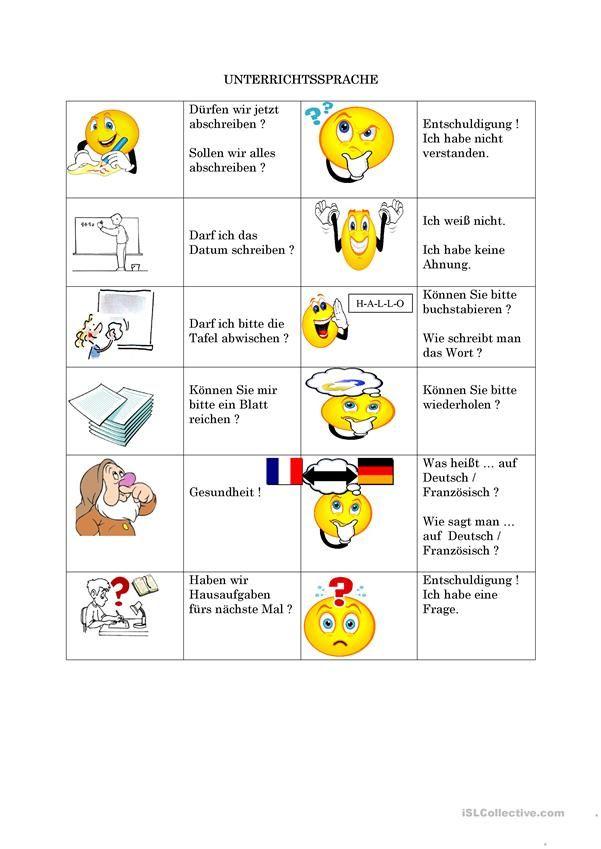 Unterrichtssprache   Hallo, Kinder, wir lernen Deutsch   Pinterest