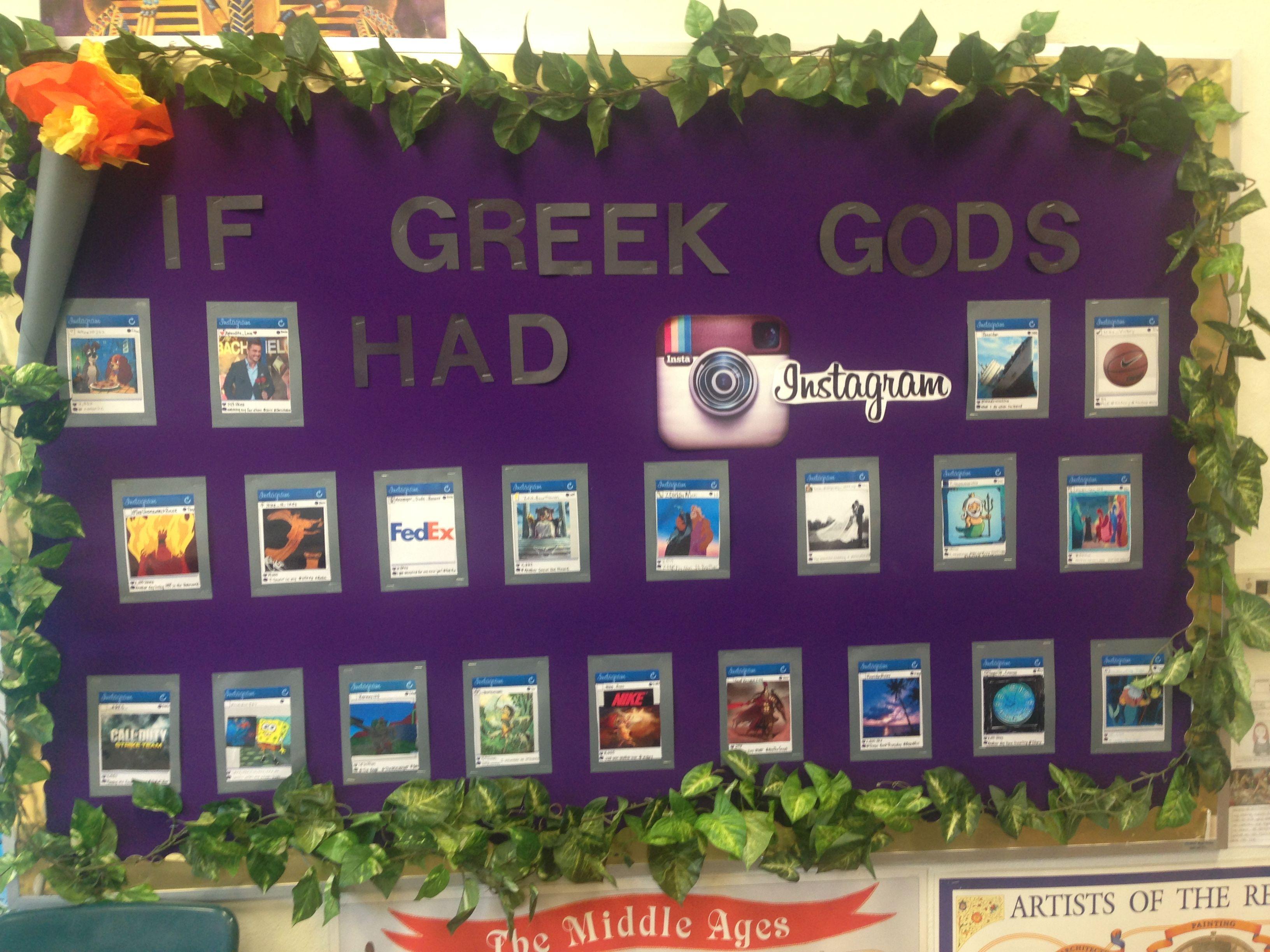 If Greek gods had Inatagram  6th grade history Greek mythology activity