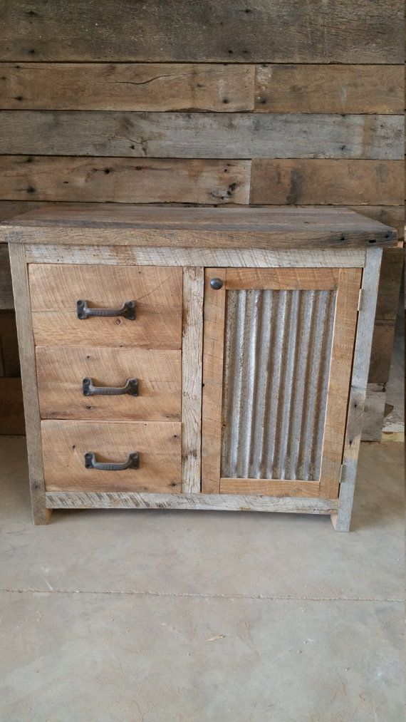 YOUR Custom Rustic Barn Wood Vanity or Cabinet by timelessjourney - muebles de cocina economicos
