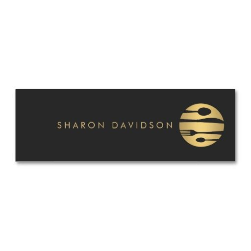Luxe gold and black catering restaurant thin business cards luxe gold and black catering restaurant thin business cards colourmoves