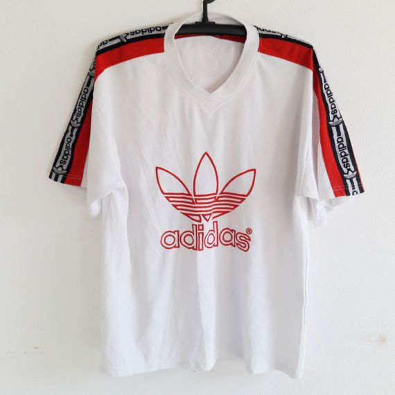 Vintage Adidas Trefoil Big Logo Hip Hop Clothing T-Shirt   Products ... 624059d7576