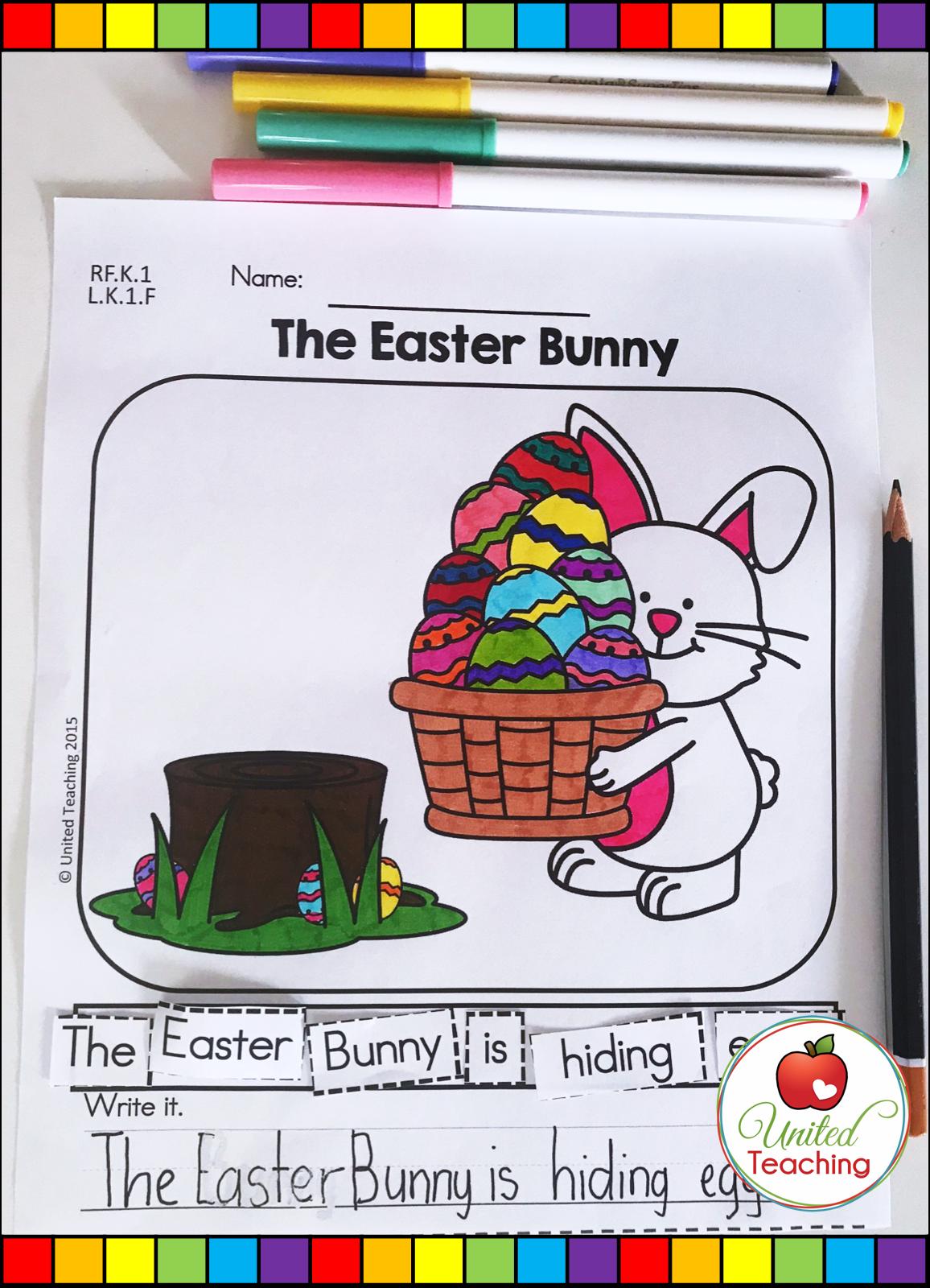 Easter Literacy Worksheets Kindergarten Distance