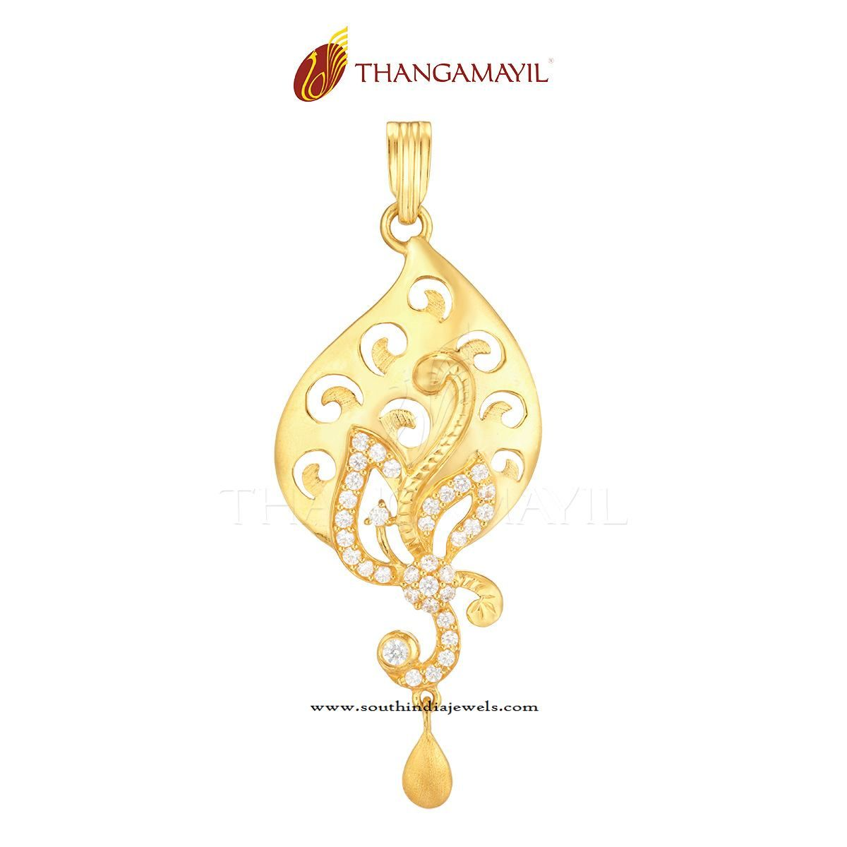 22k gold pendant with white stones indian gold jewelry gold gold pendants from india india gold pendant designs indian gold jewellery pendant designs mozeypictures Images
