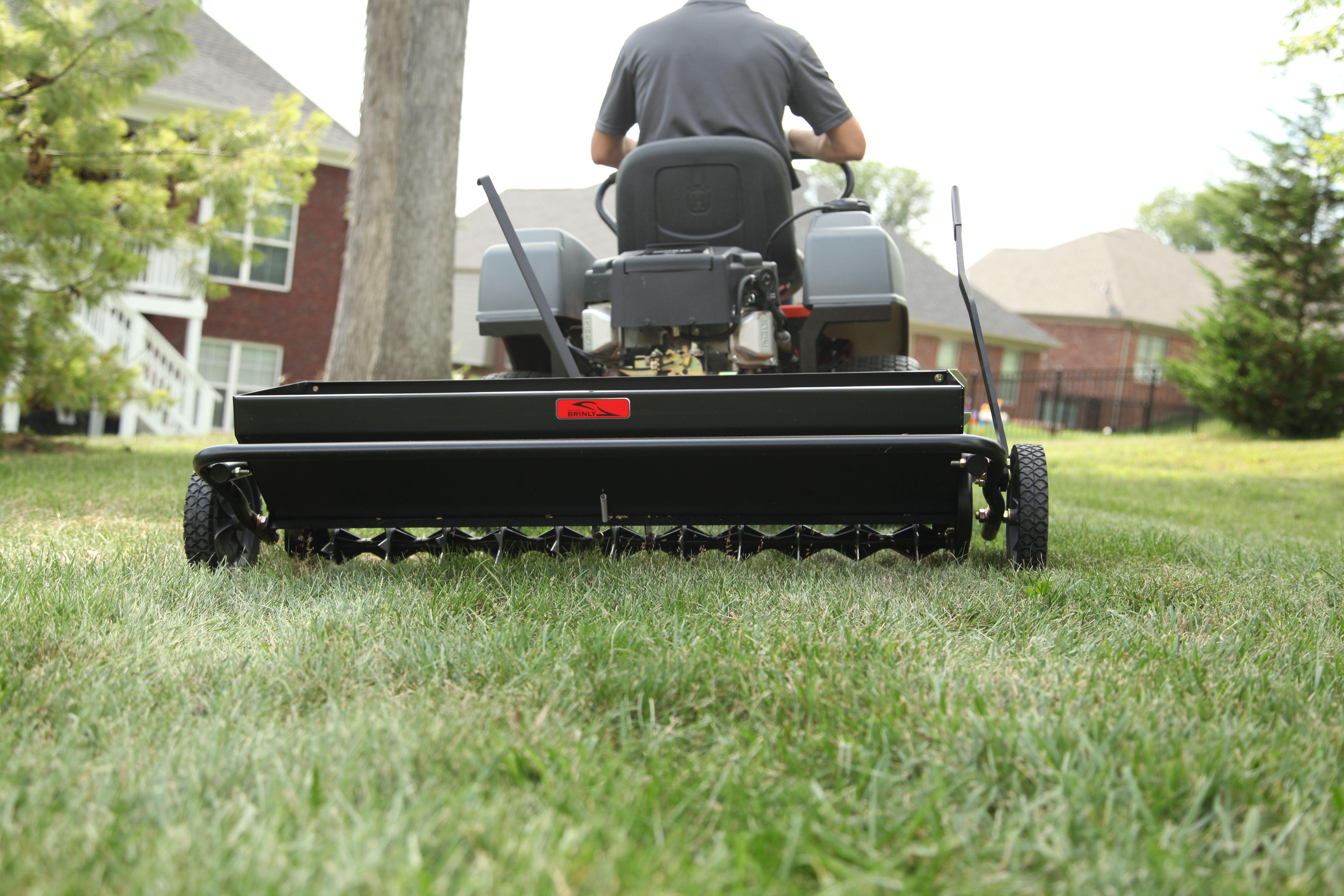 40 Aerator Spreader Lawn Fertilizer Spreader Spring Lawn Care Aerator
