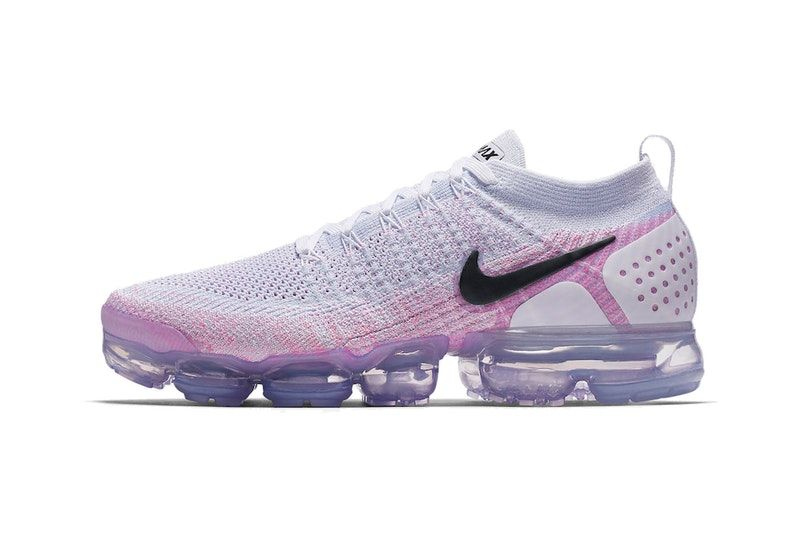 8f6c179d0035 Nike Air VaporMax flyknit 2.0 Black White Hydrogen Blue grey purple  sneakers mens womens pink
