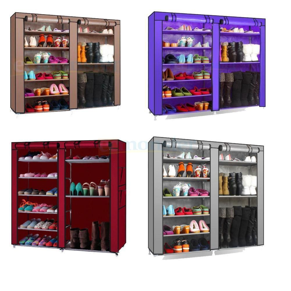 Ktaxon Portable Shoe Rack Boot Shelf Shelves Storage Closet Organizer Cabinet W Cover Gray W Storage Closet Organization Shoe Rack Closet Shoe Rack With Shelf