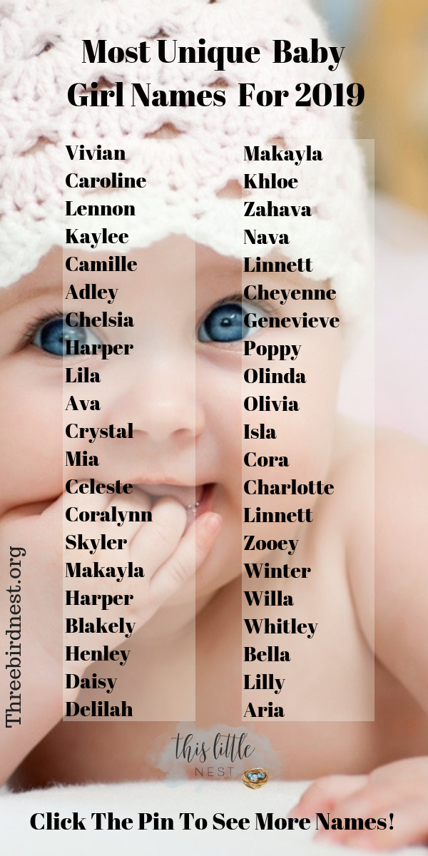 The Prettiest , Most Unique Baby Girl Names For 2021 - This Little Nest