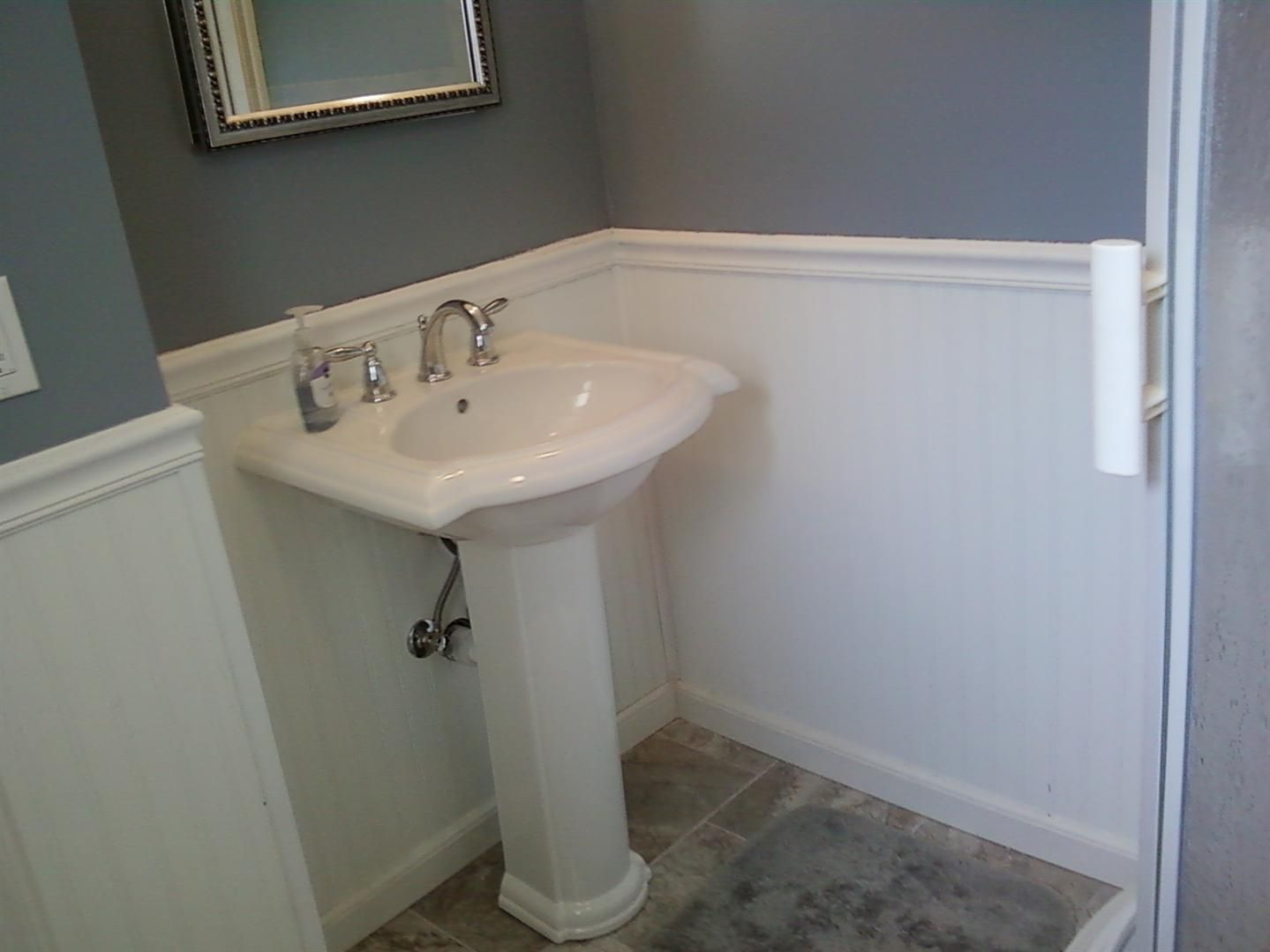 bathroom design ideas with pedestal sink