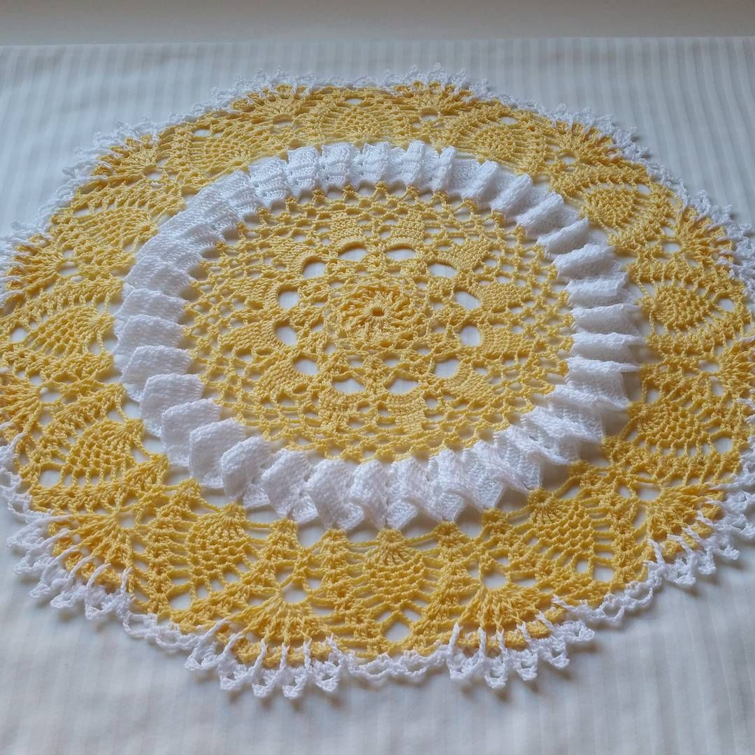 Sunshine Lace Doily - free crochet pattern by Cylinda Mathews at Crochet…