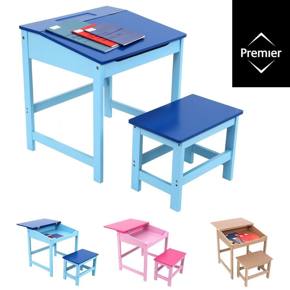 Playful Furniture For Kids!  sc 1 st  Pinterest & STUDY DESK AND CHAIR SET / School Drawing Homework Table Stool For ...