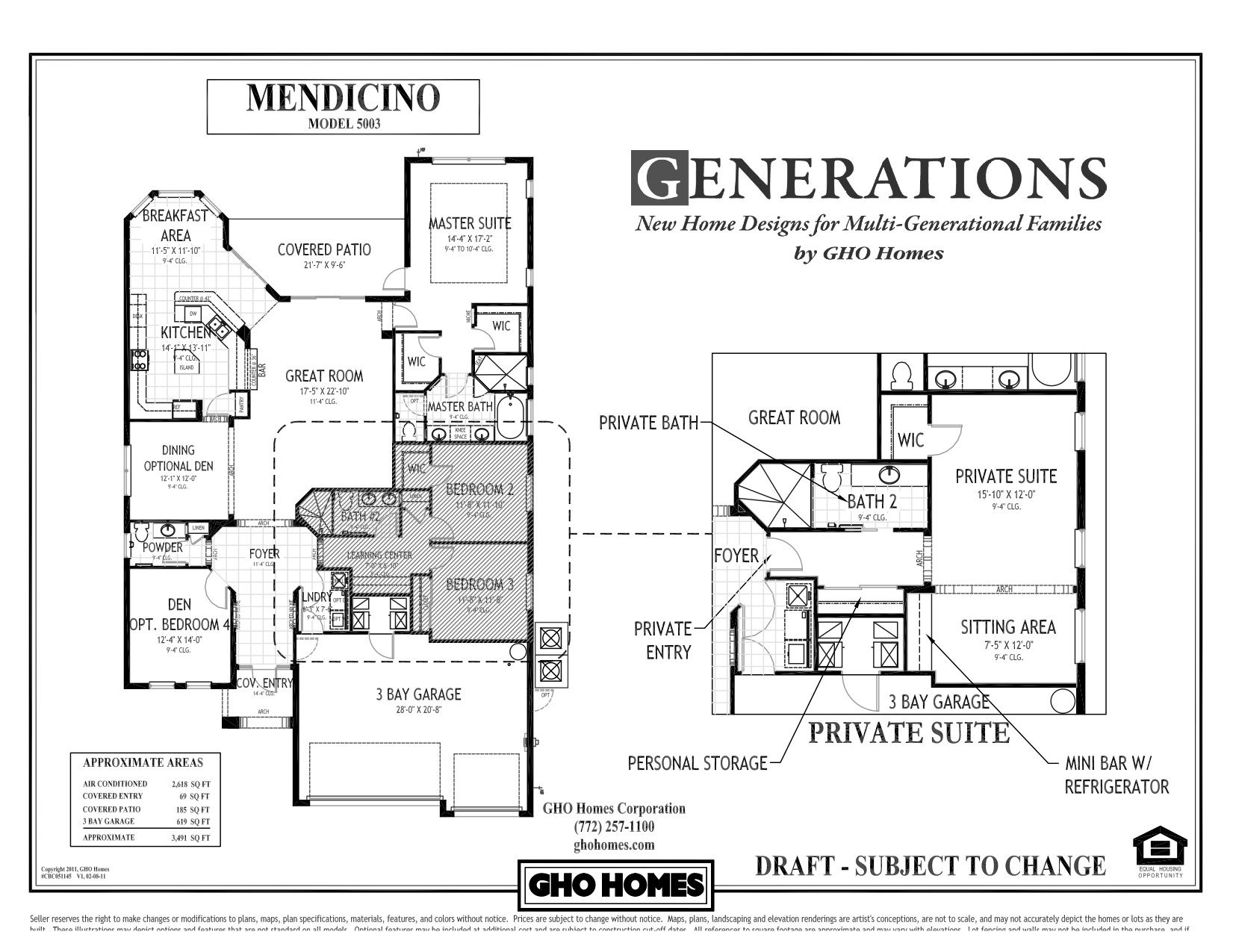 Multi generational house plans single story of today s for Multi generational home builders