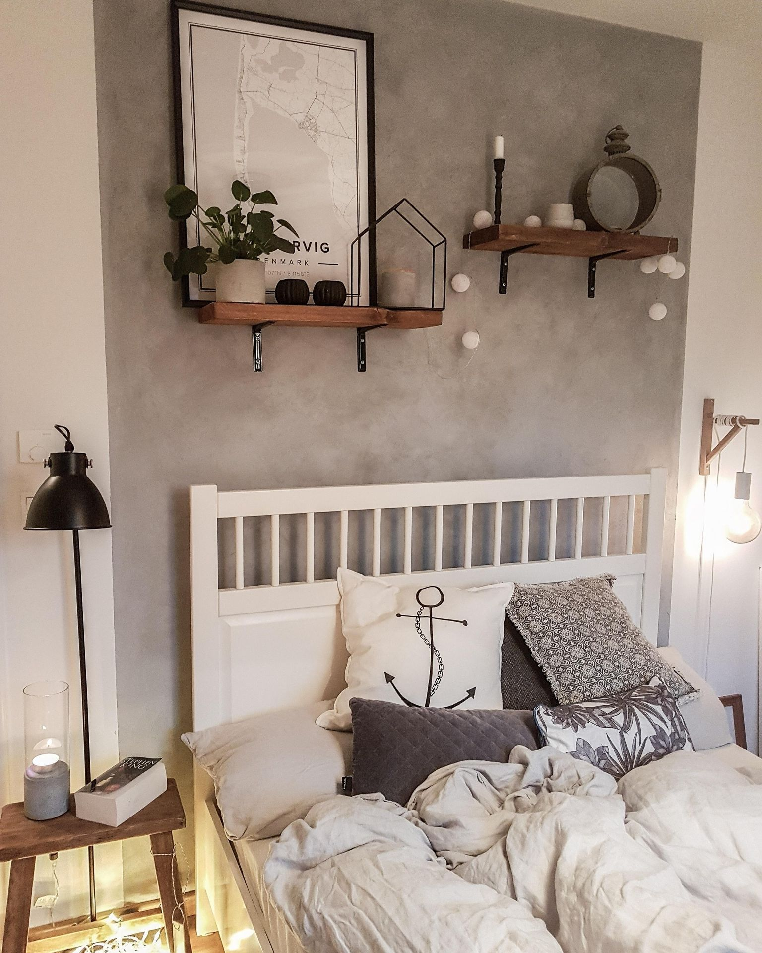 Unser Community-Mitglied Elbankerdekoration hat einen wunderchönen Geschmack, das zeigt uns auch wieder das Schlafzimmer! Entdecke noch mehr Wohnideen auf COUCHstyle #living #wohnen #wohnideen #einrichten #interior #COUCHstyle #schlafzimmer #anker #deko #neuesdekor