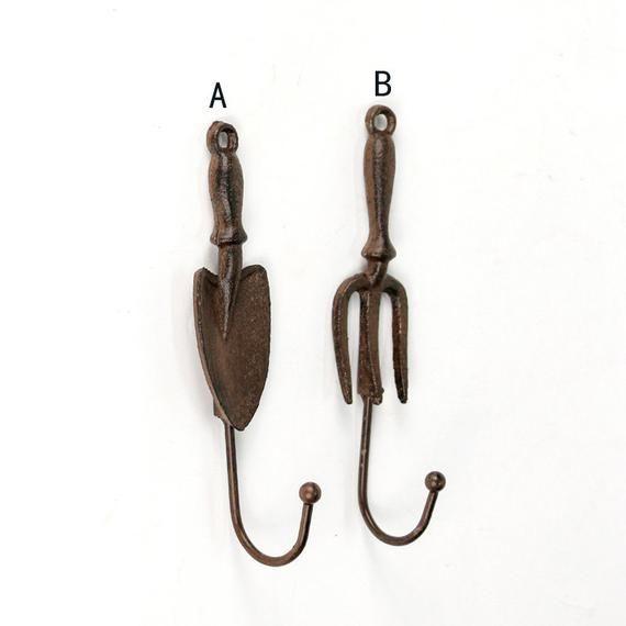 European Cast Iron Hook Decorative Hook Pastoral Style Small