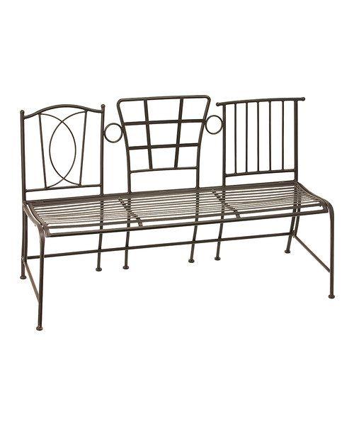 Bronze Three Chair Bench