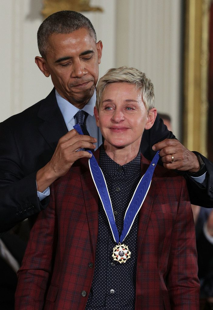 A Teary Ellen Degeneres Receives The Presidential Medal Of -2396