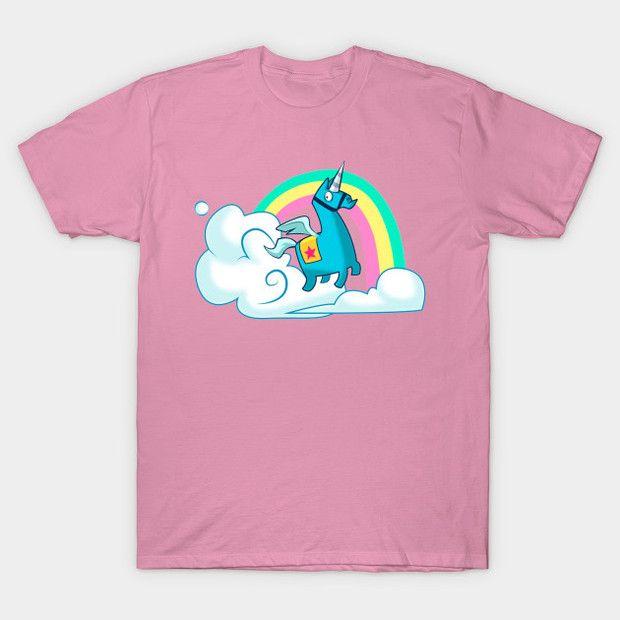 Fortnite Brite Bomber Unicorn T Shirt Rainbow Smash Fortnite