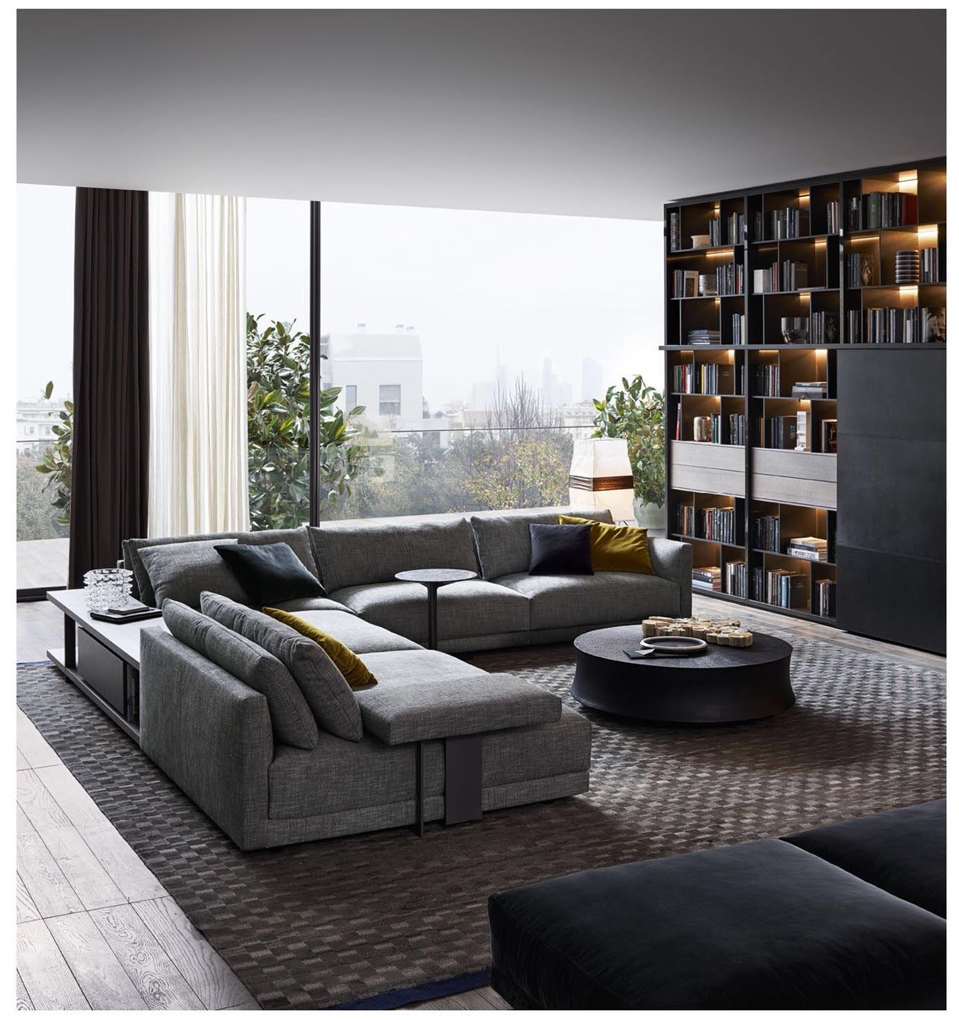 Bristol Sofa Poliform Modern Apartment Living Room Apartment