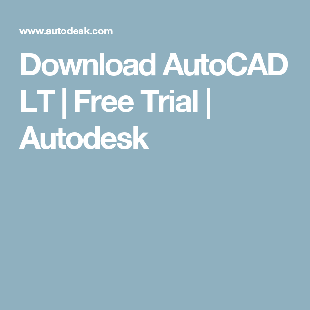 Autocad lt 2007 free trial download