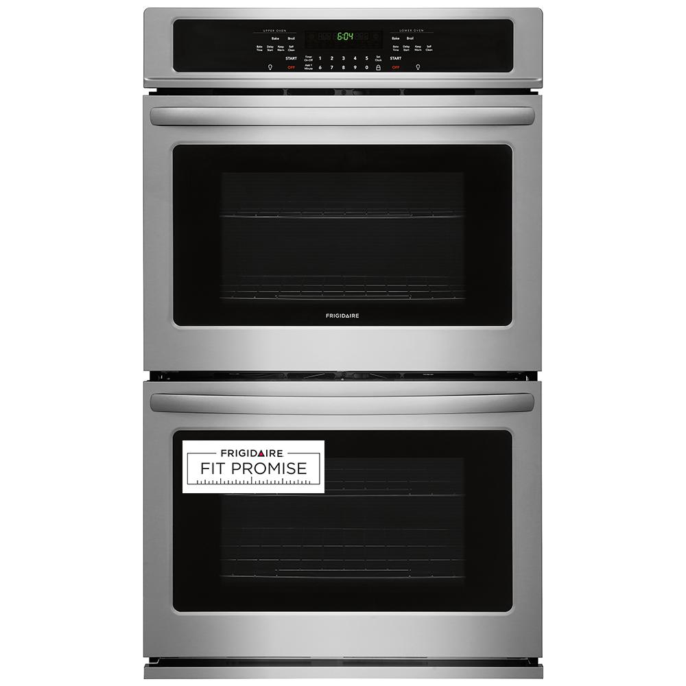 Frigidaire 30 In Double Electric Wall Oven Self Cleaning In Stainless Steel Ffet3026ts Electric Wall Oven Double Electric Wall Oven Stainless Steel Oven