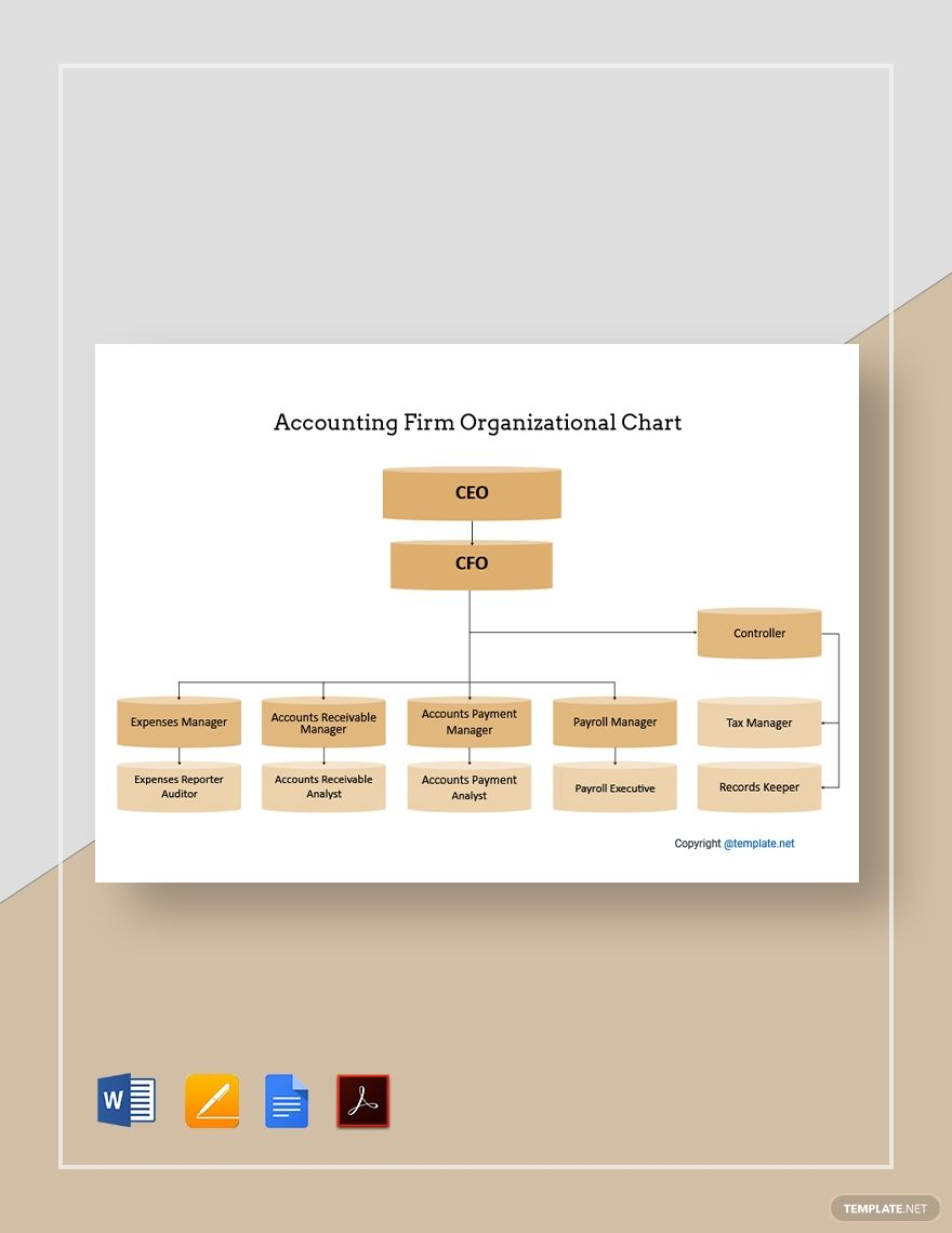 Free Sample Accounting Firm Organizational Chart In 2020