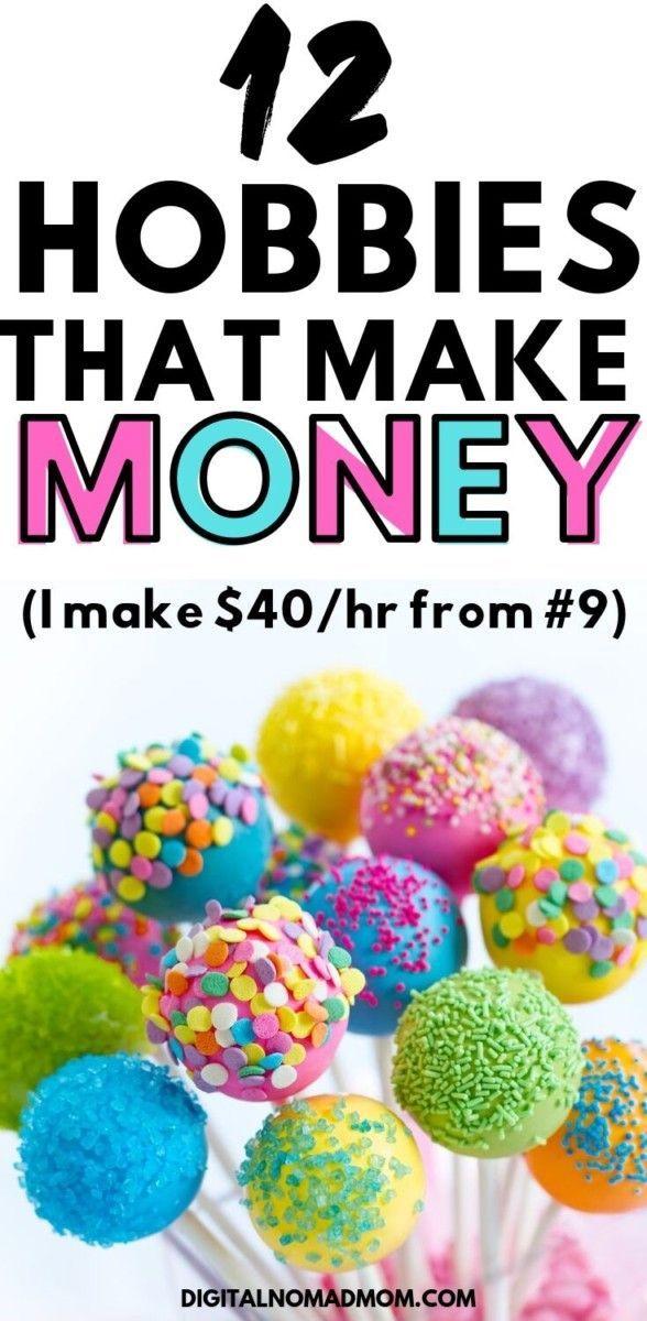 12 Hobbies That Make Money (I Make $40/hr From #9!). #sidehustles