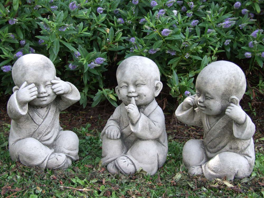 buddha garden. TIBETAN MONKS Perfectly Detailed Buddha Garden Statue. U