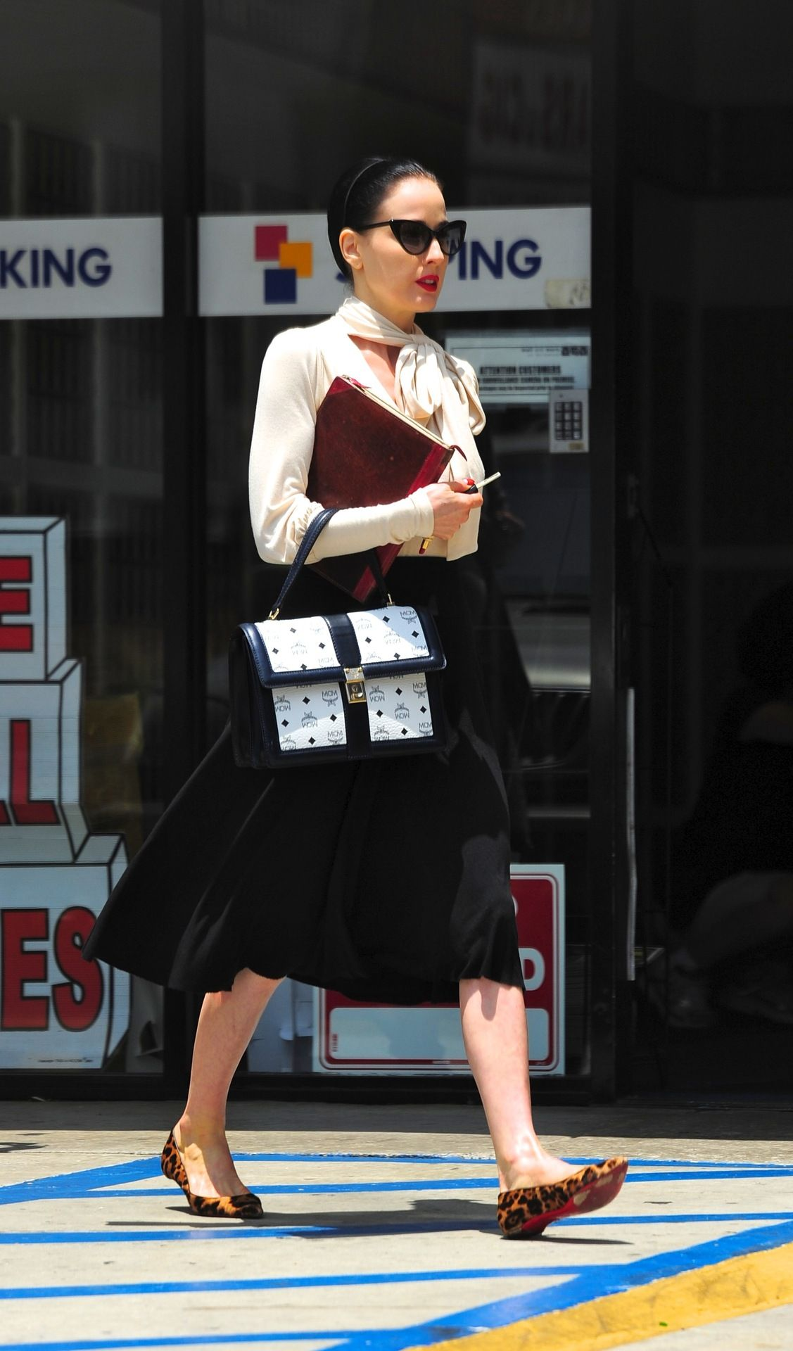 Dita Von Teese out in LA  I'd wear that.