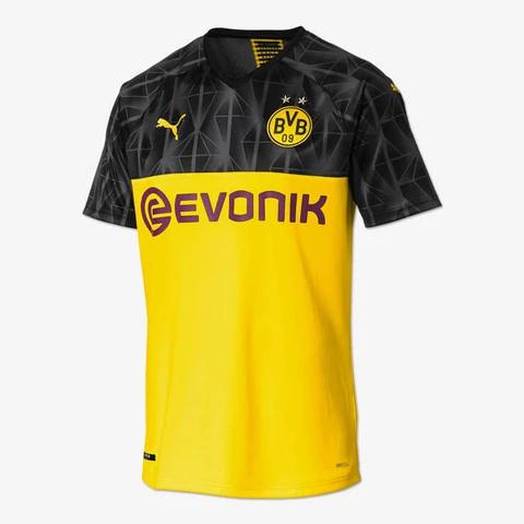 Manchester City Football UCL Training Short Sleeve Jersey T-Shirt Mens Yellow