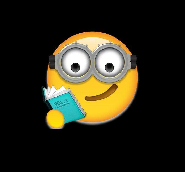 I Made A Minion Reading A Book Emoji Minions Emoji Books To Read