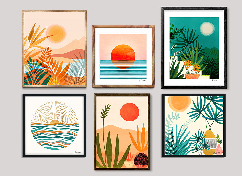 Where To Buy Modern Tropical Diy Canvas Art Tropical Art Traditional Art Prints