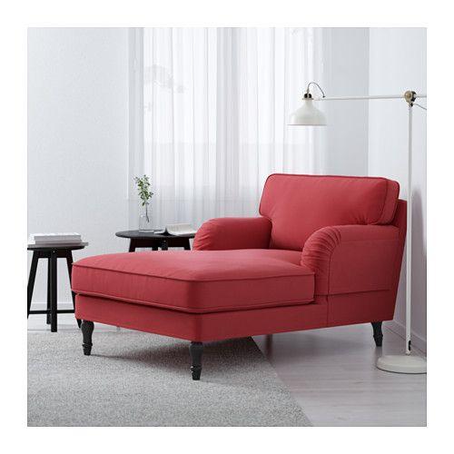 STOCKSUND Chaise longue - Ljungen verm clr, preto - IKEA
