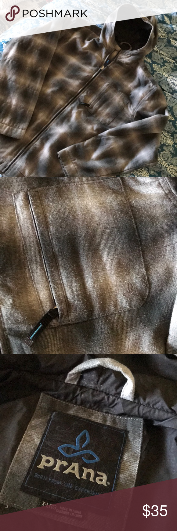 Flannel jackets with hood  Menus PrAna Flannel Jacket  Flannel jacket Grey flannel and Flannels